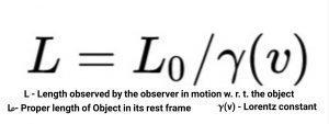 Length contraction formula