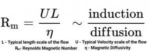 Magnetic Reynold's Number