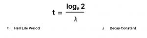 equation for the half life