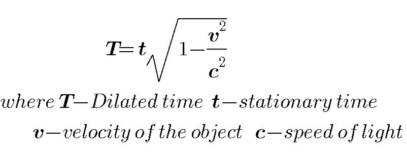Equation of Time Dilation